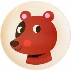 Ingela Geweldig beer melamine eetbord #plate #Bear from www.kidsdinge.com    www.facebook.com/pages/kidsdingecom-Origineel-speelgoed-hebbedingen-voor-hippe-kids/160122710686387?sk=wall         http://instagram.com/kidsdinge #Kidsdinge