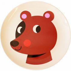 #Ingela Geweldig beer melamine eetbord  #Melamine #Plate #Bear from http://www.kidsdinge.com www.facebook.com/pages/kidsdingecom-Origineel-speelgoed-hebbedingen-voor-hippe-kids/160122710686387?sk=wall http://instagram.com/kidsdinge