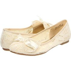 Chinese Laundry Ivory Lace Ballet flats  Zappos $59.95