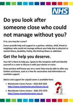 GP Practice awareness poster to identify unpaid carers