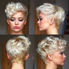 Pixie with curls. I think you need a tiny, upturned nose to pull this off...but I may try anyway ;)