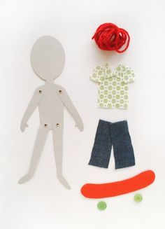 diy paper dolls - I used to love making paper dolls when I was a kid, will have a go at making these with our textured paper and card, will be fun for some robots too!