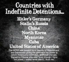 Countries with Indefinite Detentions...