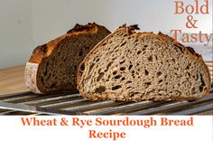 Today's recipe is for a basic sourdough bread made of whole-grain rye flour and wheat flour with 80% hydration. Such types of bread are often called Artisan Breads. #sourdough #bread #food #recipe #foodblog #boldandtasty Bread Food, Rye Bread, Sourdough Bread, Bread Baking, Artisan Bread Recipes, Sourdough Recipes, How To Make Dough, How To Make Bread, Rye Flour