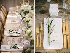 gold utensils + olive branches for a metallic wedding table tablescape place settings Chic Gold and Ivory Baby Shower from Sterling Social Garden Wedding, Wedding Table, Baby Shower Decorations, Wedding Decorations, Olive Wedding, Olive Branch Wedding, Branches Wedding, White Baby Showers, Rustic Centerpieces