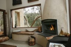 A simpler masonry fireplace/bench combo, for southwest corner of new addition.