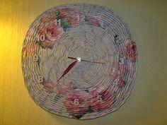 różany zegar rose clock