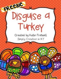 In this freebie, students and families will disguise a turkey so that it doesn't get eaten for Thanksgiving! Included in this family project: - Letter to parents & families explaining the project - Two different turkey templates (you choose which one you' Thanksgiving Writing, Thanksgiving Preschool, Thanksgiving Crafts For Kids, Happy Thanksgiving, Turkey Project, Turkey Disguise, 1st Grade Writing, Letter To Parents, School Holidays