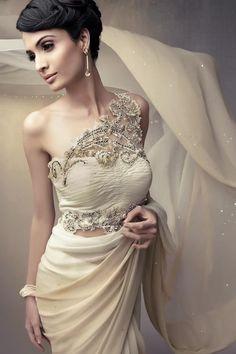contemporary take on saree  #Weddingdress