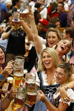 Have a beer or two at Oktoberfest in Munich Germany