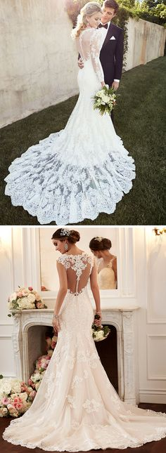 Vintage-inspired wedding dresses: from Old Hollywood glam to Art Deco beading - from bridal designer Essense of Australia