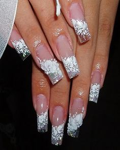 A small collection of some nail designs pictures from all over the world to have as many ideas for your nails. Great Nails, Fabulous Nails, Gorgeous Nails, Love Nails, 3d Nails, Glitter Nails, Beautiful Nail Designs, Beautiful Nail Art, Cool Nail Designs