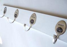 Personalized Wall Mount Silverware Spoon Rack Hanger  by SpoonerZ, $39.99