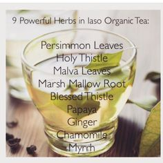 Order your Iaso Tea! Ask me how!