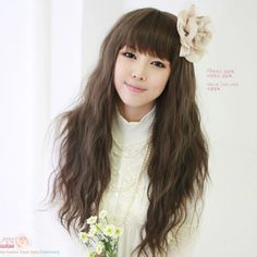 SILVI Korean Hot fresh and natural princess wig long curly hair corn hot LC015-Taobao