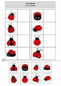 For preschool, pre-k, and kindergarten. Preschool Learning Activities, Toddler Activities, Preschool Activities, Kids Learning, Activities For Kids, Kids Math Worksheets, Kids Education, Kids And Parenting, Matching Games