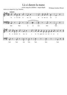 Là ci darem la mano #sheetmusic #musiced