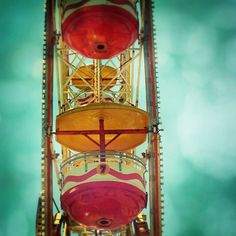 7th Heaven  Fine Art Ferris Wheel Carnival Print 8x8 by stoopidgerl on Etsy, $25.00