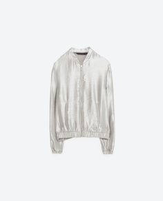 Image 8 of SHORT ZIPPED BOMBER JACKET from Zara