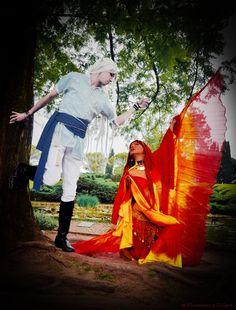 Nare and Kerfat'fuer from Leodhrae www.aurorafilippi.com  Photo by: Francesca Solari https://www.facebook.com/Francesca-Solari-Photography-454269394624161/  Location: Parco Giardino Sigurtà (Italy) #leodhrae #fantasy #costume #cosplay #book #novel #god #gods #goddess #air #fire