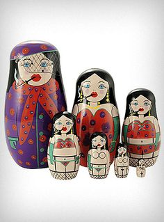 Burlesque Russian Doll Set