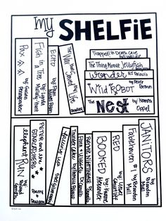 Reading Log or Shelfie. Perfect for book tracking and 40 book challenge. Color code genres...kids love this.