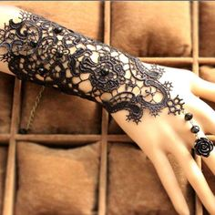 Make A Statement Vintage Gothic Bracelet With Ring