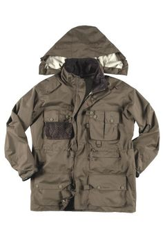 barbour fishing jacket (lots of pockets etc)
