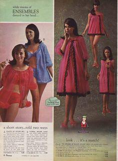 Vintage Lingerie Fashion for Women 60s Fashion Trends, 1960s Fashion Women, 70s Fashion, Girl Fashion, Vintage Fashion, Womens Fashion, Fashion History, Fashion Online, Lingerie Catalog