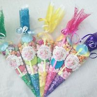 10 Shopkins Themed Pre Filled Sweet Cones Personalised + Free Sweety Bag