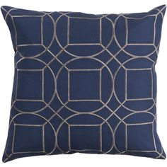 Modern accent pillows are the way to go. The Boyce Toss Pillow is simple and sophisticated in Cobalt and Light Gray. Made from 100% linen with a polyester fill