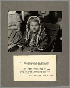 An Italian child finds her first penny, Ellis Island, 1926. [601x760] - Imgur