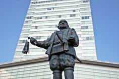 Statue of Tokugawa Ieyasu in front of Shizuoka station