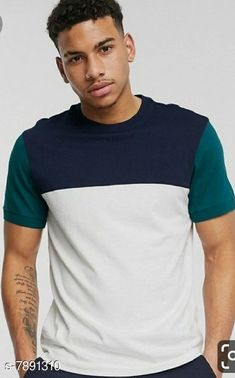 Checkout this latest Tshirts Product Name: *Attractive Men's T-Shirt* Fabric: Cotton Sleeve Length: Short Sleeves Pattern: Colorblocked Multipack: 1 Sizes: S, M (Chest Size: 38 in, Length Size: 27.5 in)  L (Chest Size: 40 in, Length Size: 28 in)  XL (Chest Size: 42 in, Length Size: 28.5 in)  XXL Country of Origin: India Easy Returns Available In Case Of Any Issue   Catalog Rating: ★4 (498)  Catalog Name: Attractive Men's T-Shirts CatalogID_1296571 C70-SC1205 Code: 962-7891310-294