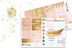 Planner Sticker Weekly Kit Rose Gold for your Erin Condren Life Planner, Plum…