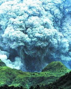 Pinatubo volcano eruption (1991) - We helped with the evacuation of people from the Philippines to Guam