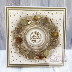 Made using the Build A Wreath Cut and Emboss Folder from Chloes Creative Cards Chloes Creative Cards, Creative Christmas Cards, Xmas Cards, Card Making Inspiration, Christmas Inspiration, Christmas Projects, Christmas Wreaths, Stamps By Chloe, Daisy Petals
