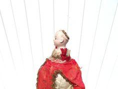 RARE Poupée En Porcelaine Marotte Musicale Yeux Fixe Bouche Fermé Marque F 4 | eBay