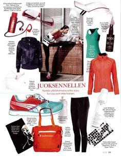 Spring & running season is coming.. SUPERYELLOW headband in Elle magazine 3/2013