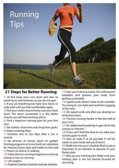 "Running Tips: Remember ""FIT"" for your workouts! Frequency (how often), Intensity (how fast/adding inclines), and Time (how long)"