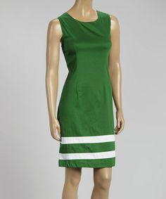 Love this Grass Stripe Sleeveless Sheath Dress by AA Studio on #zulily! #zulilyfinds