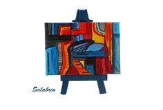 Acrylmalerei - Abstrakte Kunst als Wohndeko. Acrylbild mit Staffelei http://de.dawanda.com/product/104888443-abstrakte-kunst-mit-staffelei - ein Designerstück von Salabrin bei DaWanda