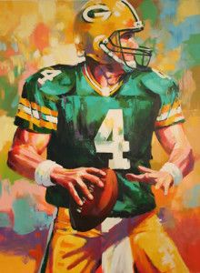 Brett Favre by Malcom Farley Nfl Football Players, Football Memes, Sports Memes, Green Bay Football, Football Conference, Great Team, Atlanta Falcons, New York Jets, Sports Art