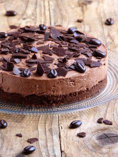 Chocolate cheesecake {no baking and no gelatin} - Garrard Sewter Pumpkin Pecan Cheesecake, Chocolate Cheesecake, Chocolate Desserts, Cake Chocolate, Cheesecake Recipes, Dessert Recipes, Easy Pasta Salad Recipe, Raspberry Recipes, Gelatine