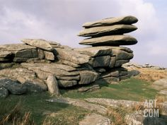 Rough Tor Rocks, Bodmin Moor, Near Camelford, Cornwall, United Kingdom Photographic Print by Roy Rainford at Art.com