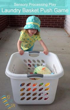 An easy heavy work idea, perfect for toddlers or kids of any age! A great proprioceptive workout! | www.GoldenReflectionsBlog.com