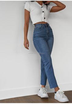Teen Fashion Outfits, Retro Outfits, Cute Casual Outfits, Jean Outfits, Simple Outfits, Stylish Outfits, Summer Outfits, Traje Casual, Jugend Mode Outfits