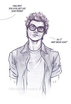 He found Peter's old glasses xD well, now you look just like your dadpool, Ben