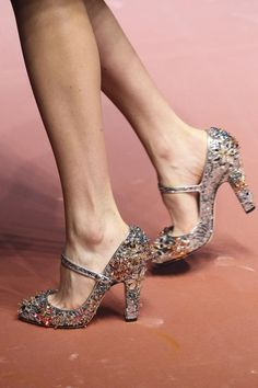 """Dancing shoes by DOlce & Gabbana "" - (They look a little scratchy)"