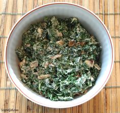 Creamed Kale - Dianne's Vegan Kitchen (cashew white sauce)